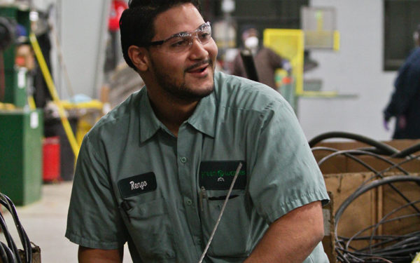 Image of Renzo working at Goodwill Greenworks