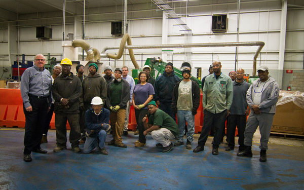 Group shot of Goodwill Greenworks employees